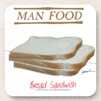 Tony Fernandes's Man Food - bread sandwich Coaster