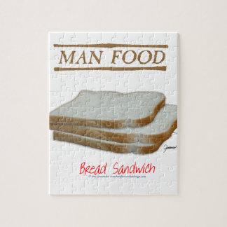 Tony Fernandes's Man Food - bread sandwich Jigsaw Puzzle