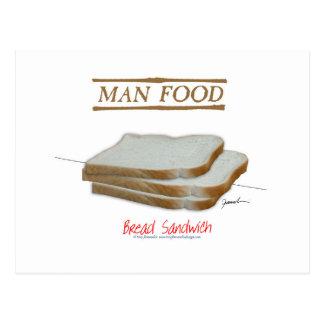 Tony Fernandes's Man Food - bread sandwich Postcard
