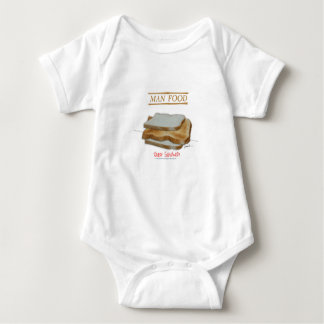Tony Fernandes's Man Food - toast sandwich Baby Bodysuit