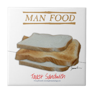 Tony Fernandes's Man Food - toast sandwich Ceramic Tile