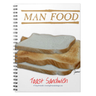 Tony Fernandes's Man Food - toast sandwich Notebook