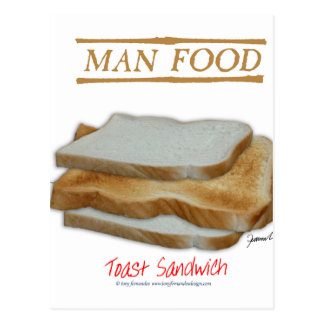 Tony Fernandes's Man Food - toast sandwich Postcard