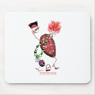 Tony Fernandes's Red Ruby Fab Egg Mouse Pad