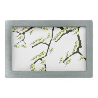 tony fernandes sakura and green birds belt buckles