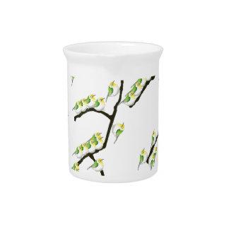 tony fernandes sakura and green birds pitcher