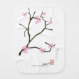 Tony Fernandes Sakura Blossom 1 Burp Cloth