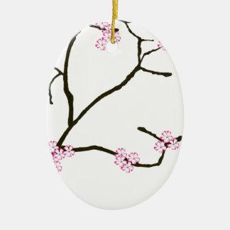 Tony Fernandes Sakura Blossom 1 Ceramic Ornament