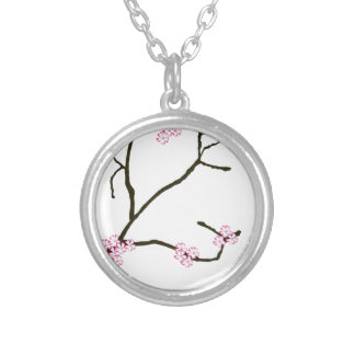Tony Fernandes Sakura Blossom 1 Silver Plated Necklace