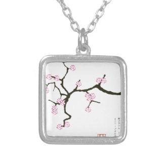 Tony Fernandes Sakura Blossom 2 Silver Plated Necklace