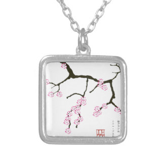 Tony Fernandes Sakura Blossom 3 Silver Plated Necklace