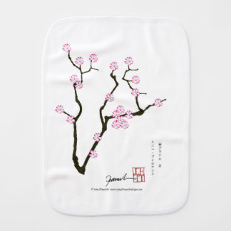 Tony Fernandes Sakura Blossom 5 Burp Cloth