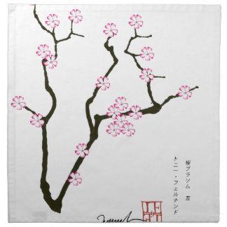 Tony Fernandes Sakura Blossom 5 Napkin
