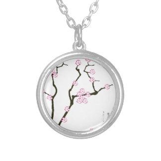Tony Fernandes Sakura Blossom 5 Silver Plated Necklace