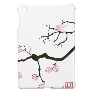 tony fernandes sakura blossom and pink bird iPad mini cover