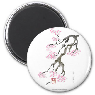 tony fernandes sakura with pink goldfish magnet