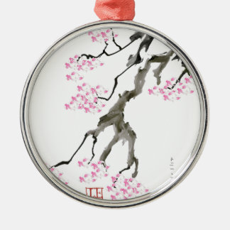 tony fernandes sakura with pink goldfish metal ornament
