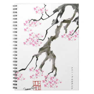 tony fernandes sakura with pink goldfish notebook