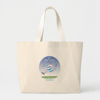 tony fernandes's argentina forward large tote bag