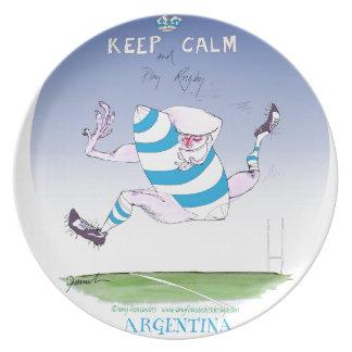 tony fernandes's argentina forward plate