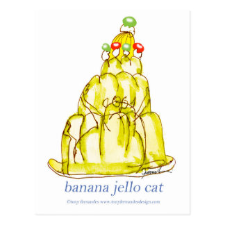 tony fernandes's banana jello cat postcard