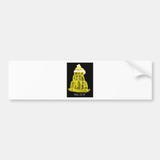 tony fernandes's banana jello rat bumper sticker