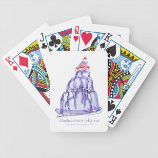 tony fernandes's blackcurrant jelly cat bicycle playing cards