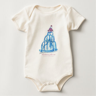 tony fernandes's blueberry jello cat baby bodysuit