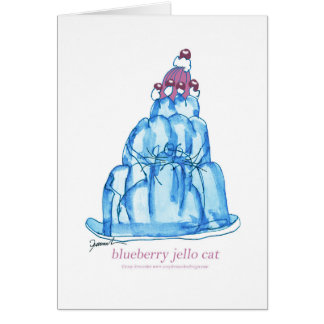 tony fernandes's blueberry jello cat card