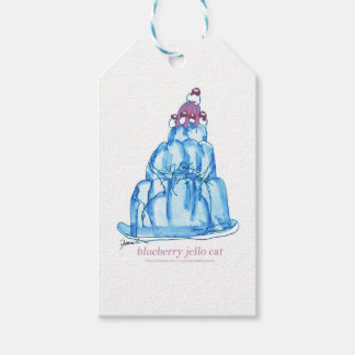 tony fernandes's blueberry jello cat gift tags