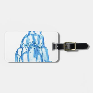tony fernandes's blueberry jello cat luggage tag