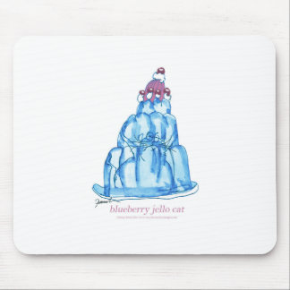 tony fernandes's blueberry jello cat mouse pad