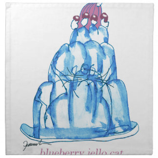 tony fernandes's blueberry jello cat napkin