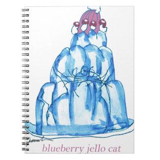 tony fernandes's blueberry jello cat notebook