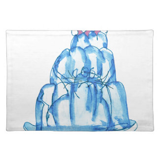 tony fernandes's blueberry jello cat placemat