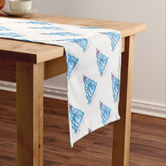 tony fernandes's blueberry jello cat short table runner