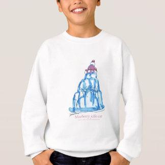 tony fernandes's blueberry jello cat sweatshirt