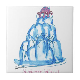 tony fernandes's blueberry jello cat tile