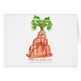 tony fernandes's carrot jello cat card