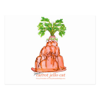 tony fernandes's carrot jello cat postcard