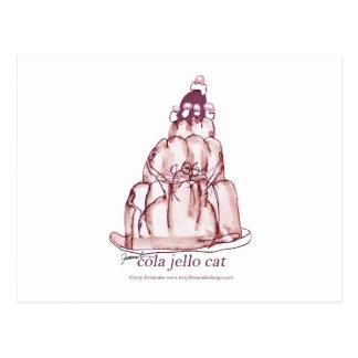tony fernandes's cola jello cat postcard