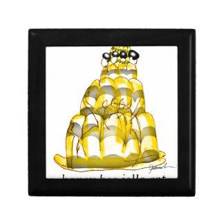tony fernandes's honey bee jello small square gift box