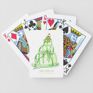 tony fernandes's lime jelly cat bicycle playing cards