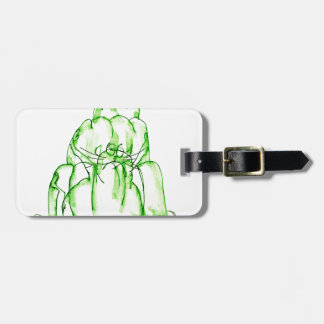 tony fernandes's lime jelly cat luggage tag
