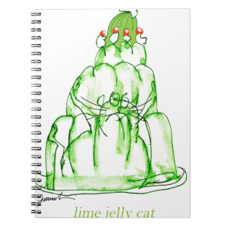tony fernandes's lime jelly cat notebook