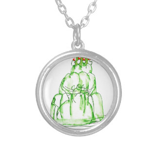 tony fernandes's lime jelly cat silver plated necklace
