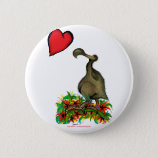 tony fernandes's love dodo 6 cm round badge