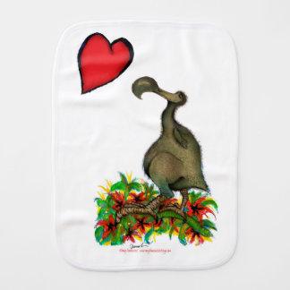 tony fernandes's love dodo burp cloth