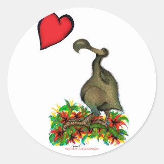 tony fernandes's love dodo classic round sticker