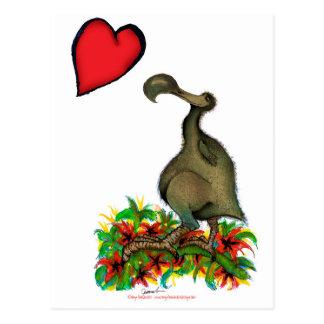 tony fernandes's love dodo postcard